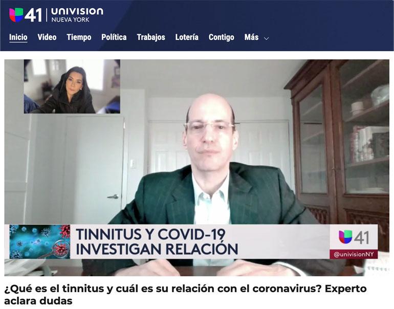 stephen-geller-katz-tinnitus-and-covid-univision-ny-interview